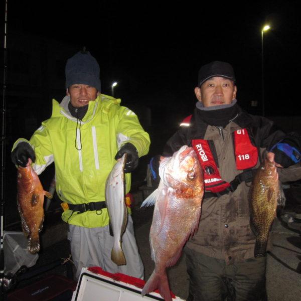 釣り船幸盛丸 釣果  2019/12/16「月」