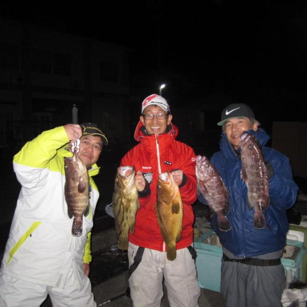 釣り船幸盛丸 釣果  2020/01/12「日」